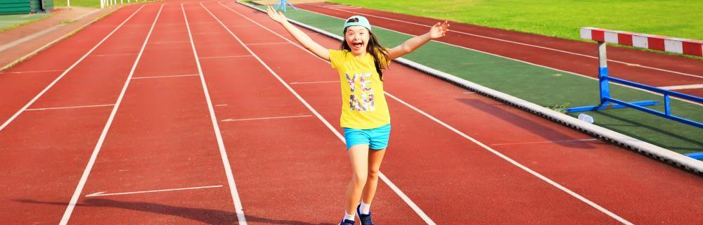 Barn på løbebane