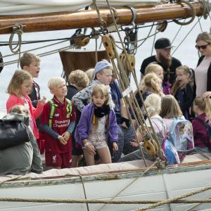 Skoleelever besøger Aalborg Regatta foto: Aalborg Events